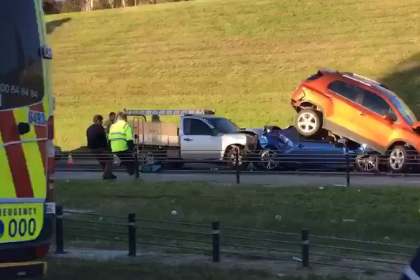 Article image for Three-car pile up on the South Gippsland Freeway
