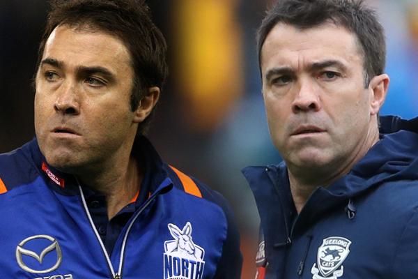 Article image for Brad and Chris Scott have quite different opinions on the ladder predictor!
