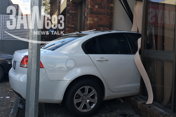 Article image for Car goes through accountant's front window in Melbourne's outer-east