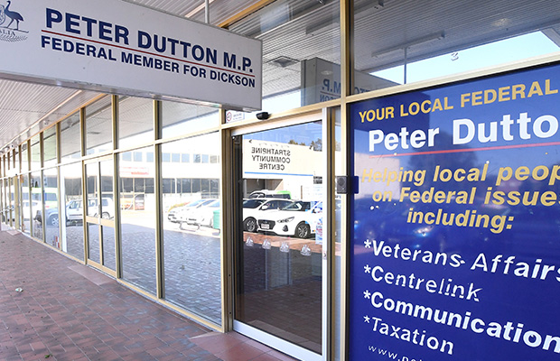 Article image for Peter Dutton's office attacked in his own electorate