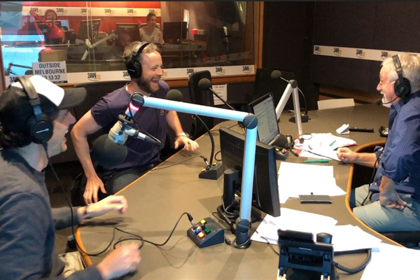Article image for Neil Mitchell walks out on Hamish + Andy and chaos erupts!