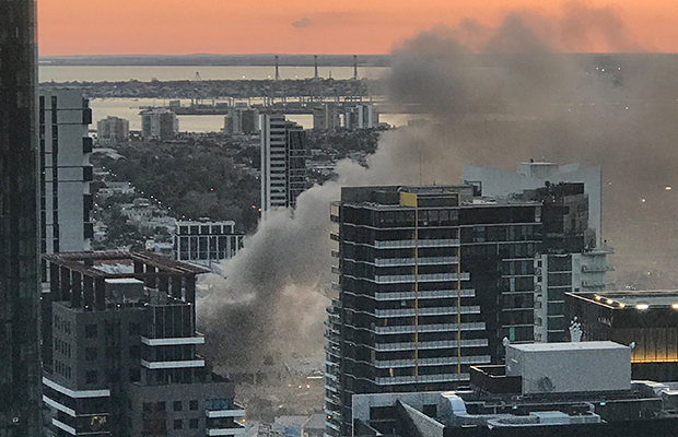 Article image for South Melbourne building engulfed in flames