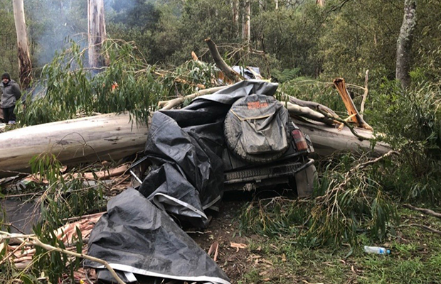 Article image for Mates raise money for families of men badly hurt in Big River camping accident