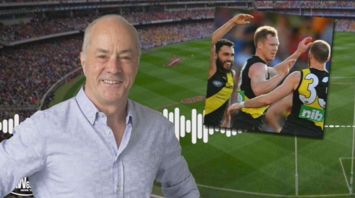 Article image for Tim Lane's call of Jack Riewoldt's 600th goal was matched only by the MCG roar!