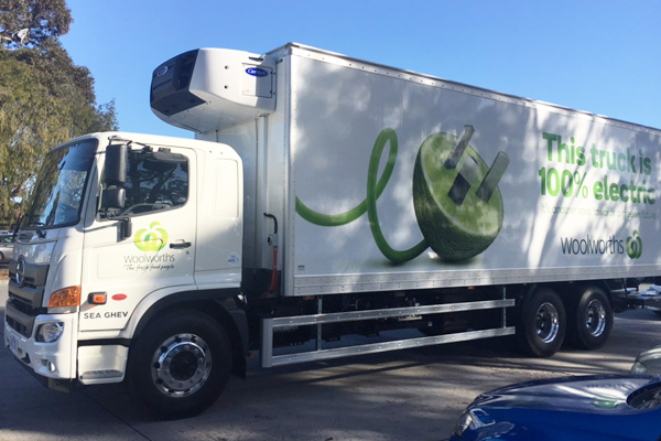 Article image for Woolworths fleet goes electric