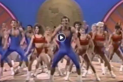That winning feeling: 80s exercise video synced to Demons theme song
