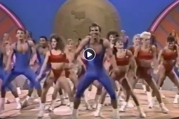Article image for That winning feeling: 80s exercise video synced to Demons theme song