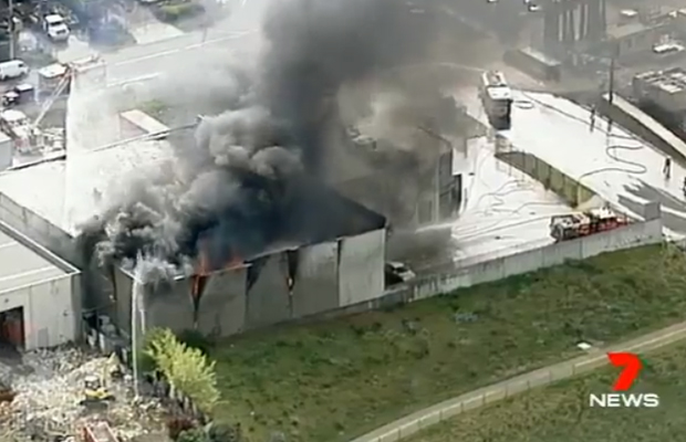 Article image for Big blaze at nut factory in Melbourne's north