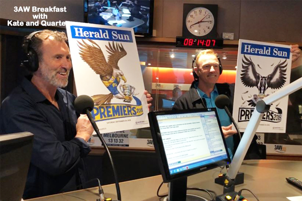 Article image for Collingwood great Peter Daicos + Eagles champ Karl Langdon swap teams on 3AW Breakfast!