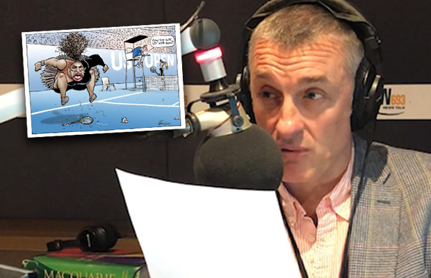"""Article image for Tom Elliott not surprised by """"oversensitive"""" reaction to Serena Williams cartoon"""