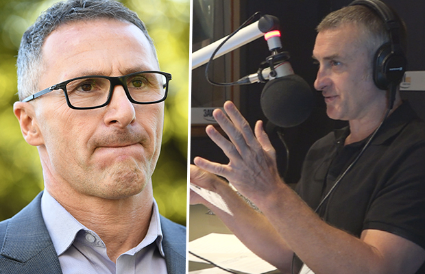 Article image for Tom Elliott and Greens leader clash over controversial cartoon