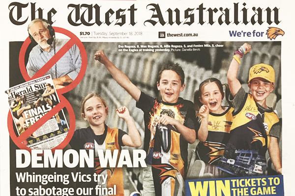 """Article image for """"Whingeing Victorian"""" Neil Mitchell responds to sledges from Perth!"""