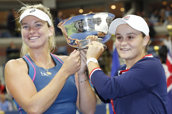 Article image for Aussie Ash Barty wins thrilling US Open women's doubles final