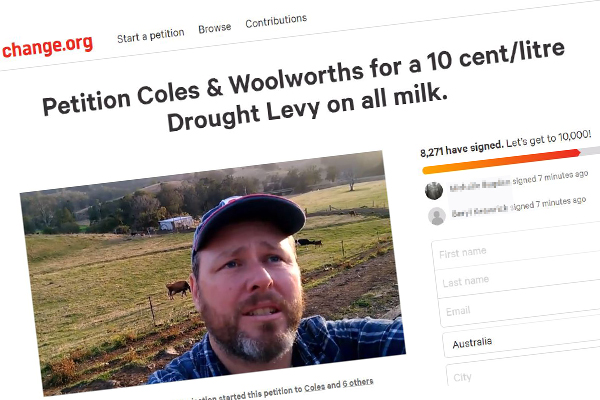 Article image for Dairy farmers calling for 10c drought levy on every litre of milk