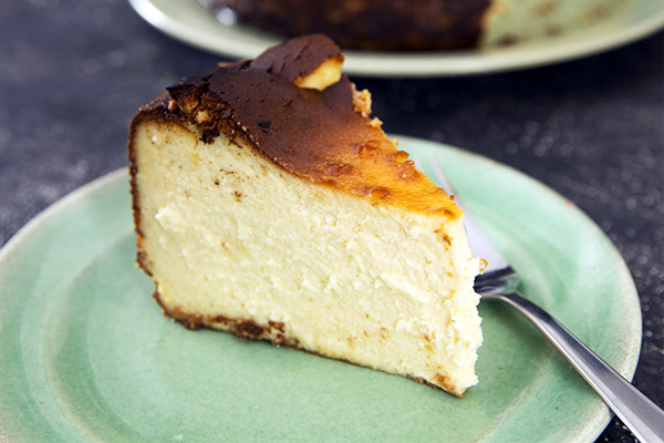 Article image for Recipe: Dani Valent's Basque Cheesecake