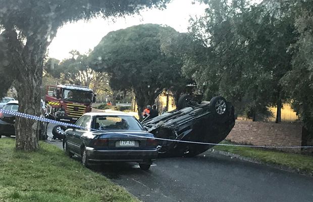 Article image for 4WD smashes into cars in Canterbury, driver flees on foot