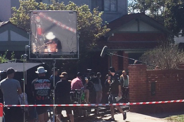 Article image for Street in Melbourne's south-east transformed into TV set
