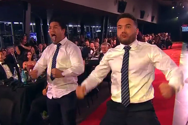 "Article image for ""That's what respect looks like"": Players perform Maori haka in honour of Dally M winner"