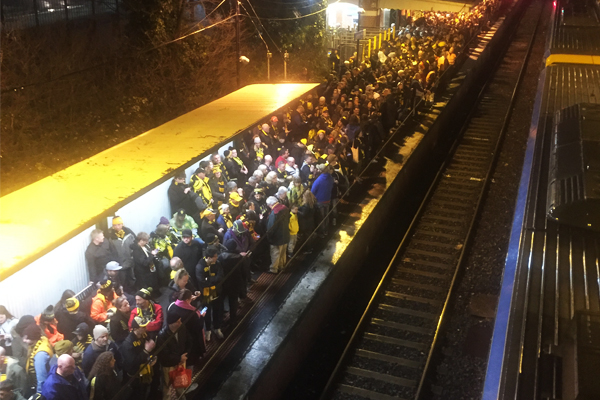 """Article image for """"It wasn't unsafe in any way"""": Metro defends its handling of footy crowds"""