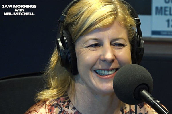Article image for 'Big Little Lies' author Liane Moriarty in studio after release of her new book
