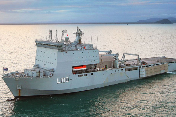 Article image for Royal Australian Navy's Landing Ship, HMAS Choules, docks in Melbourne for Open Day