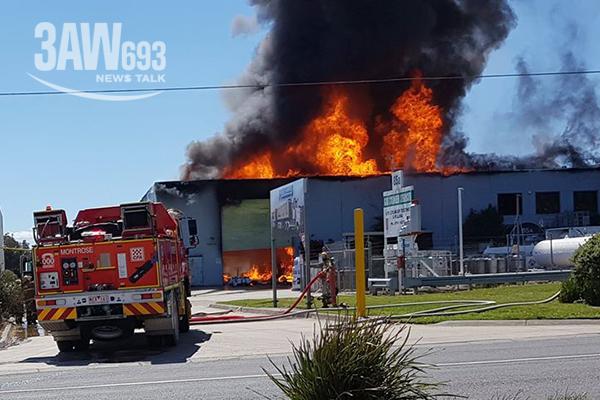 Article image for Fire crews battle huge blaze at Kilsyth factory