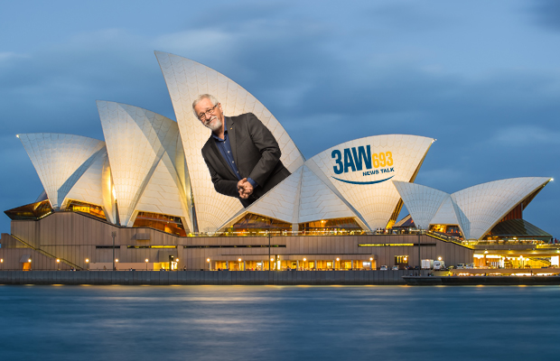 Article image for Neil's plan to promote Melbourne on the Sydney Opera House!
