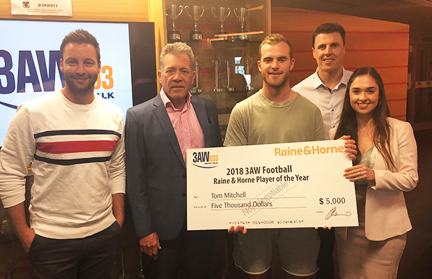Article image for Tom Mitchell: 3AW Football's Raine & Horne Player Of The Year!