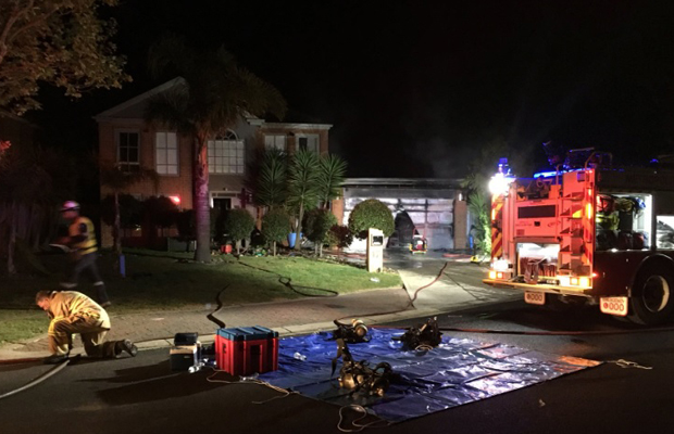 Article image for Family flees fire at Taylors Lakes