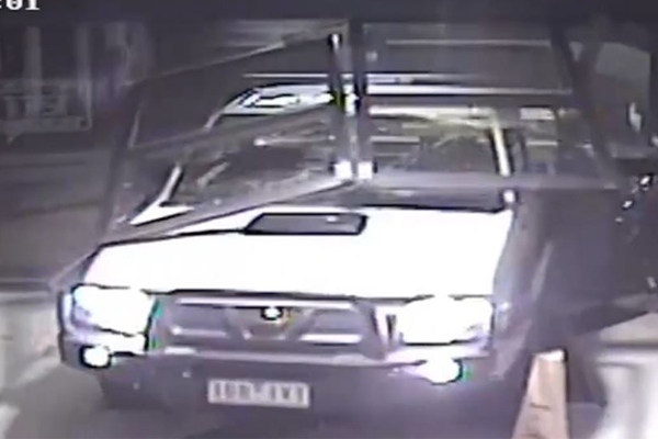 Article image for Ute driven through doors and into shopping centre in Melbourne's outer-east