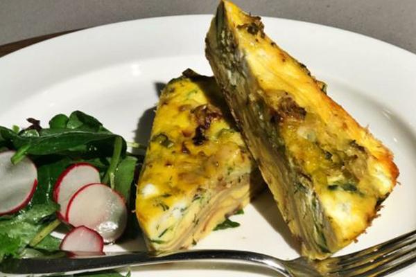 Article image for Emma Dean's roast potato and zucchini frittata