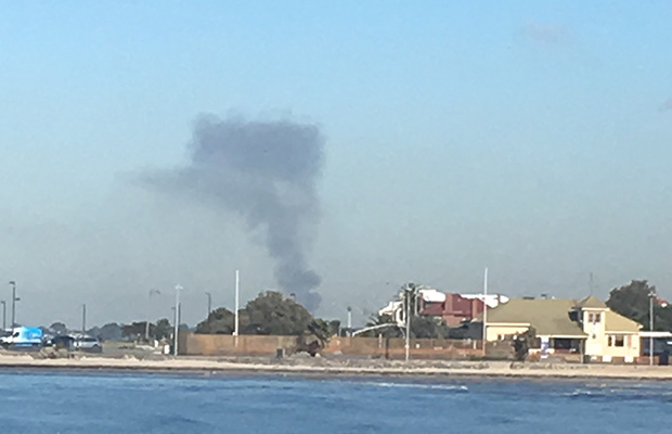 Article image for Abandoned factory goes up in flames at Laverton North