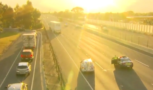 Article image for Pedestrian killed on Princes Freeway, sparking major traffic problems