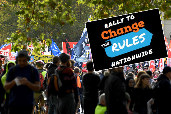 Article image for Thousands set to rally in Melbourne's CBD tomorrow for fairer pay