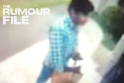 Caught on CCTV: Food delivery driver sneaks a chip at customer's front door