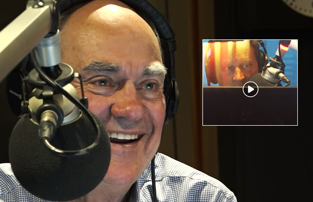 Article image for 3AW newsreader David Armstrong mucked up his own name and it left Ross and John in stitches