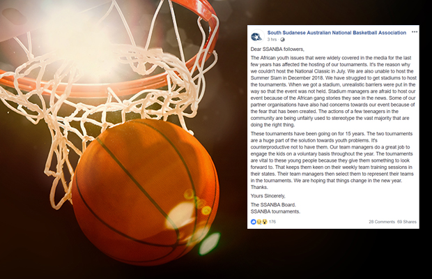 Article image for South Sudanese basketball tournament cancelled, conflicting opinions as to why…