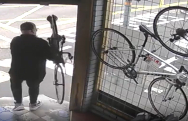 Article image for Watch: Brazen bike thefts caught on camera