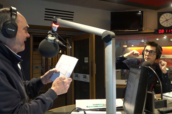 Article image for VIDEO: Watch Chris Cox read Burnso's mind in the 3AW studio