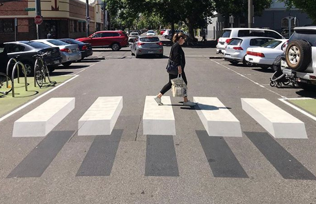 Article image for 3D crossing in Melbourne's inner north grabs attention (and raises safety questions)