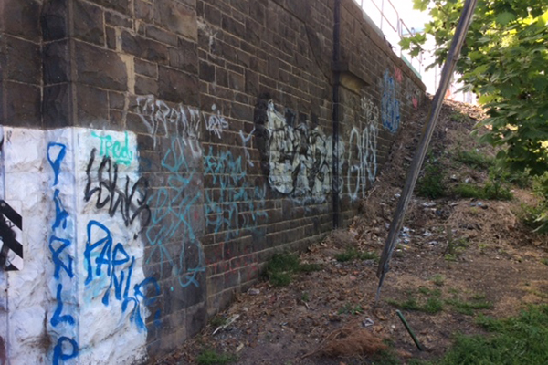 Article image for Bayside local's mission to clean up the 'beautiful, bluestone' rail bridges