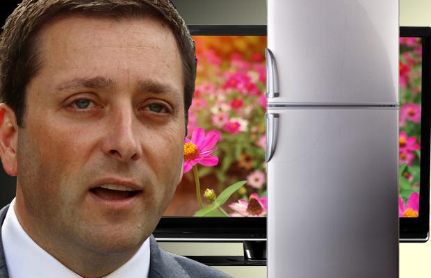 VIC ELECTION: Matthew Guy promises cheap TVs and fridges