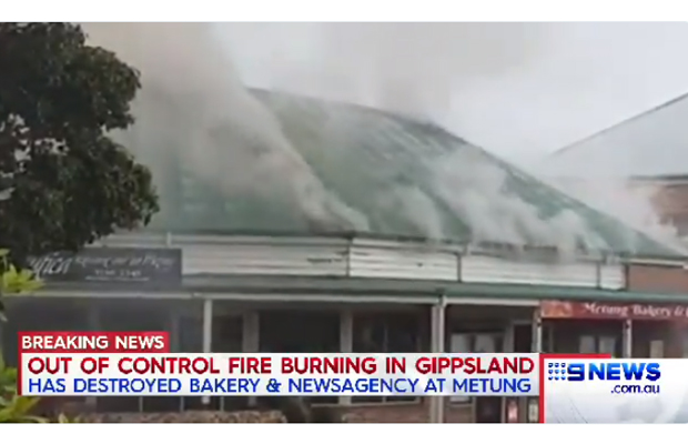 Article image for Metung fire: 'The bakery has exploded!' — fire at popular lake getaway