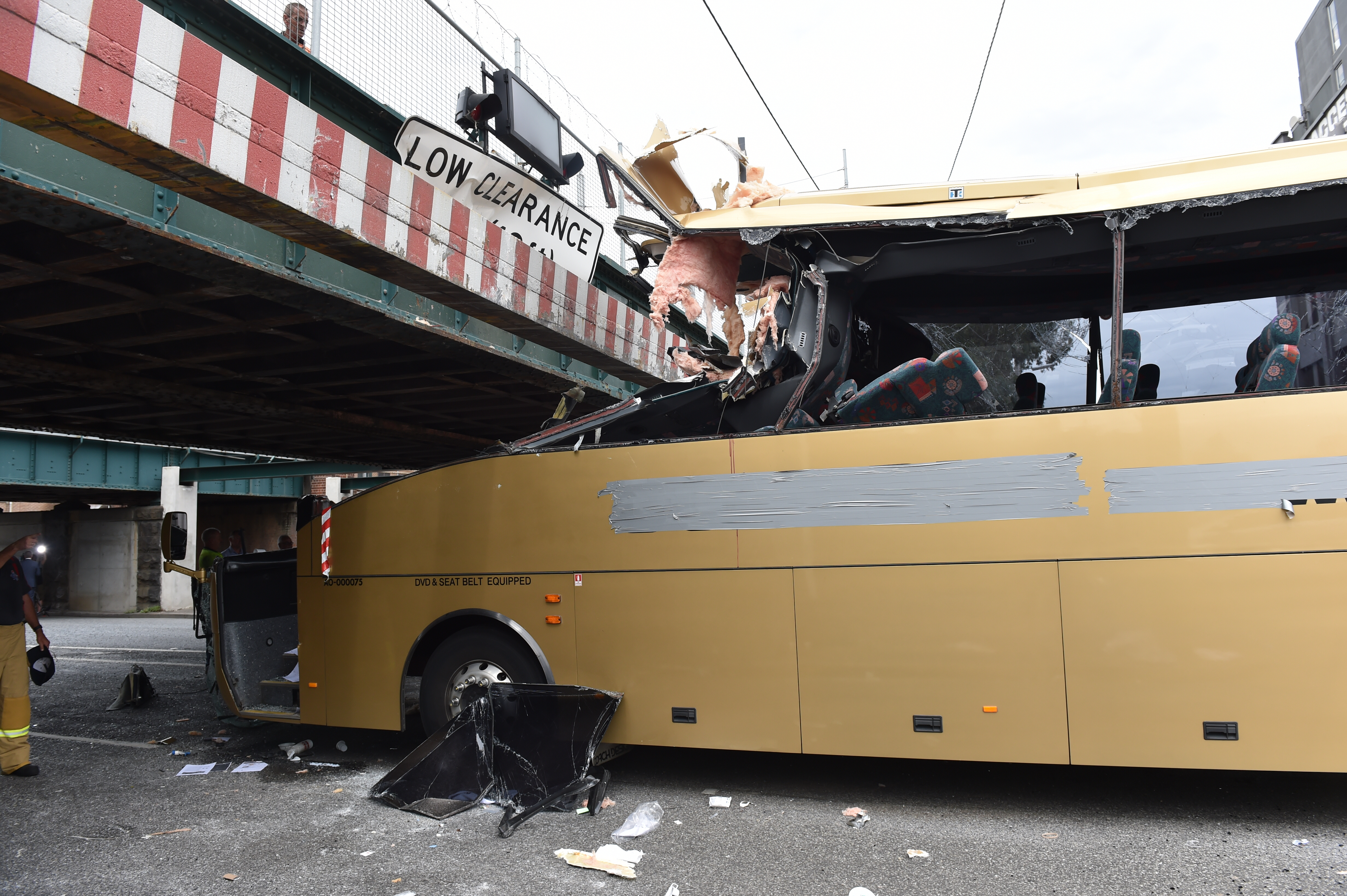 Article image for Bus driver jailed over Montague Street bridge crash which injured six