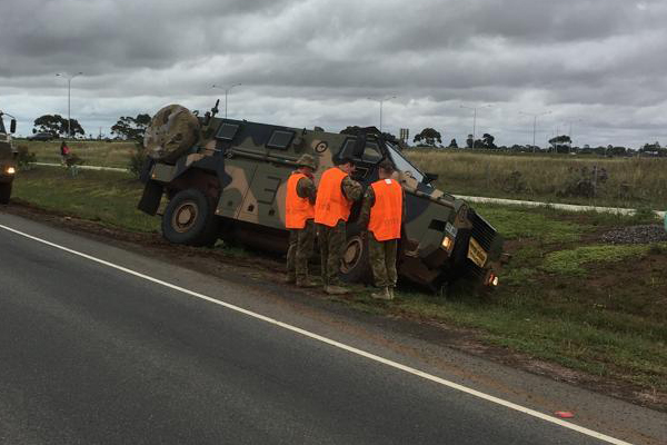 Article image for Word on the Street: Army truck bogged at Werribee