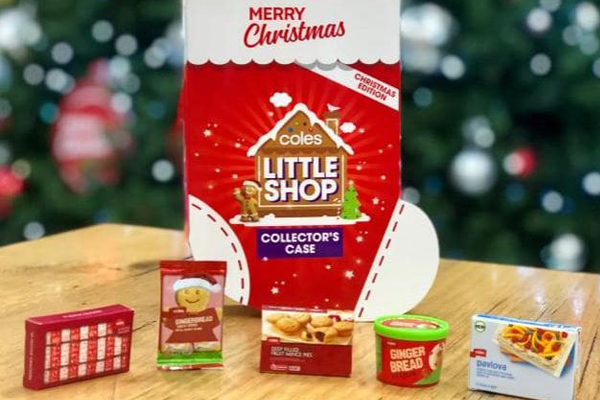Article image for Coles Little Shop Christmas minis already being auctioned off on eBay