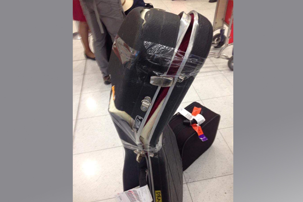 Article image for Airline pays out rock star after guitar breaks in transit