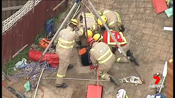 Article image for Man rescued at Mentone after falling into sewerage drain