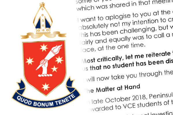 Article image for FIRST ON 3AW: Peninsula Grammar students taught wrong VCE material