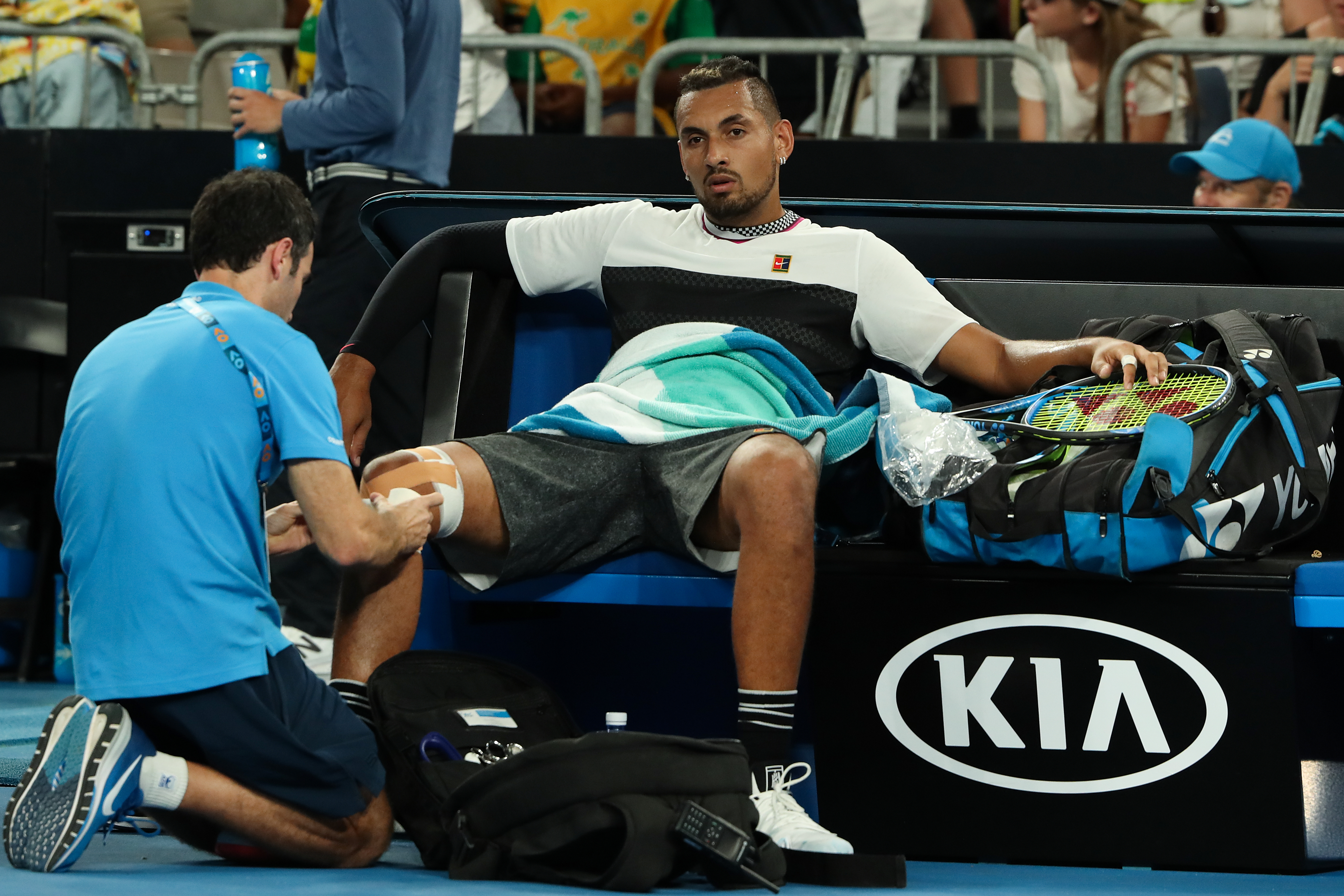Article image for Haters told to back off Nick Kyrgios, but Tomic…?